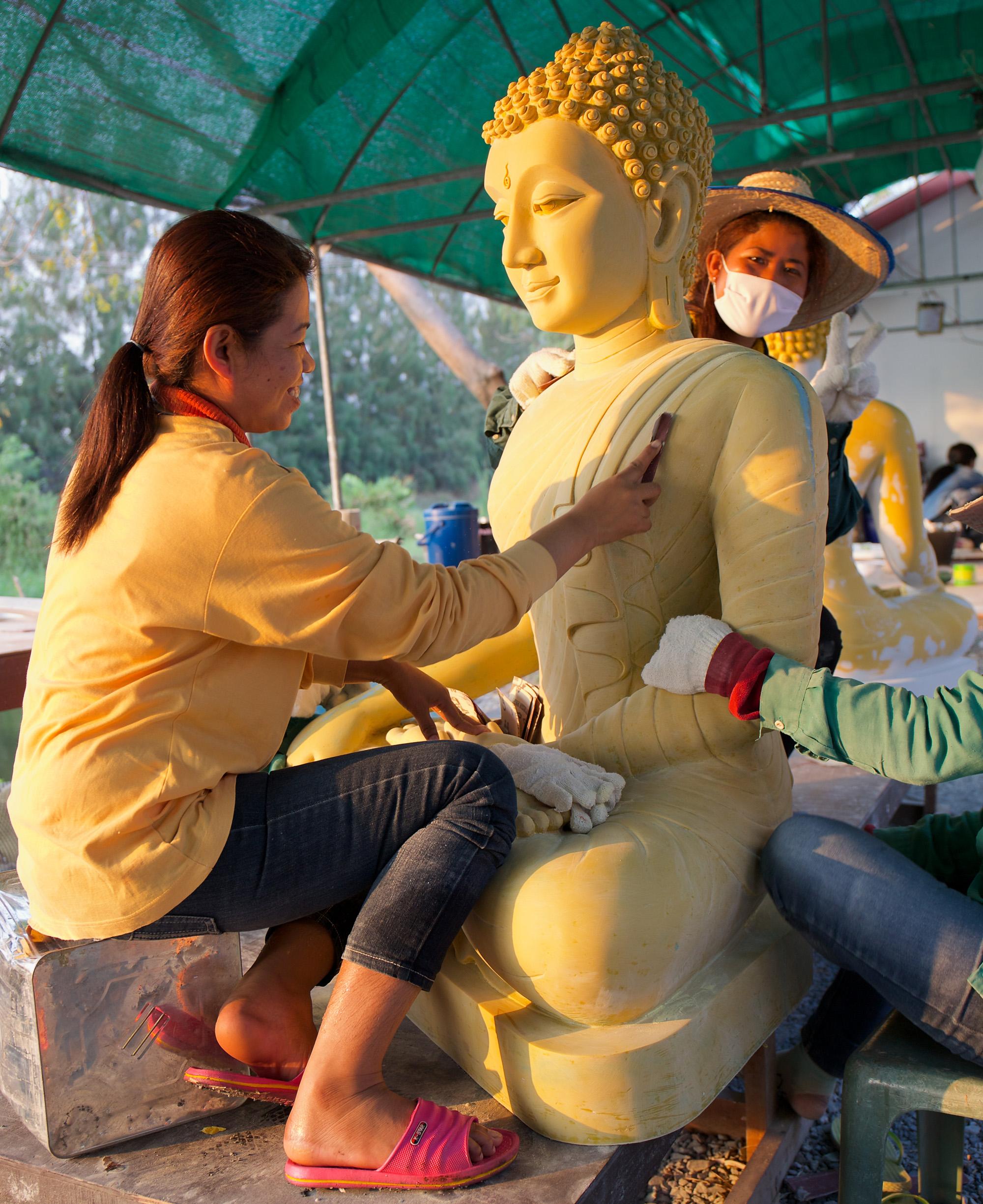 sculpting Buddha