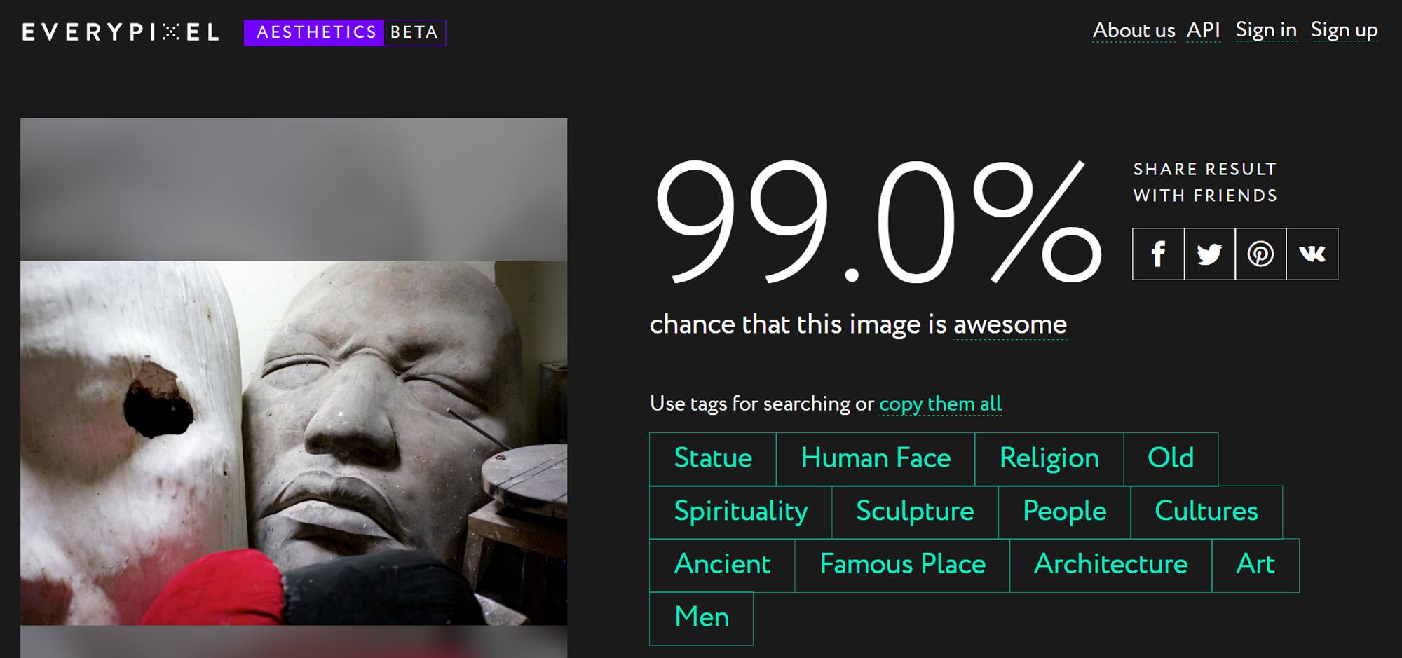 Everypixel score