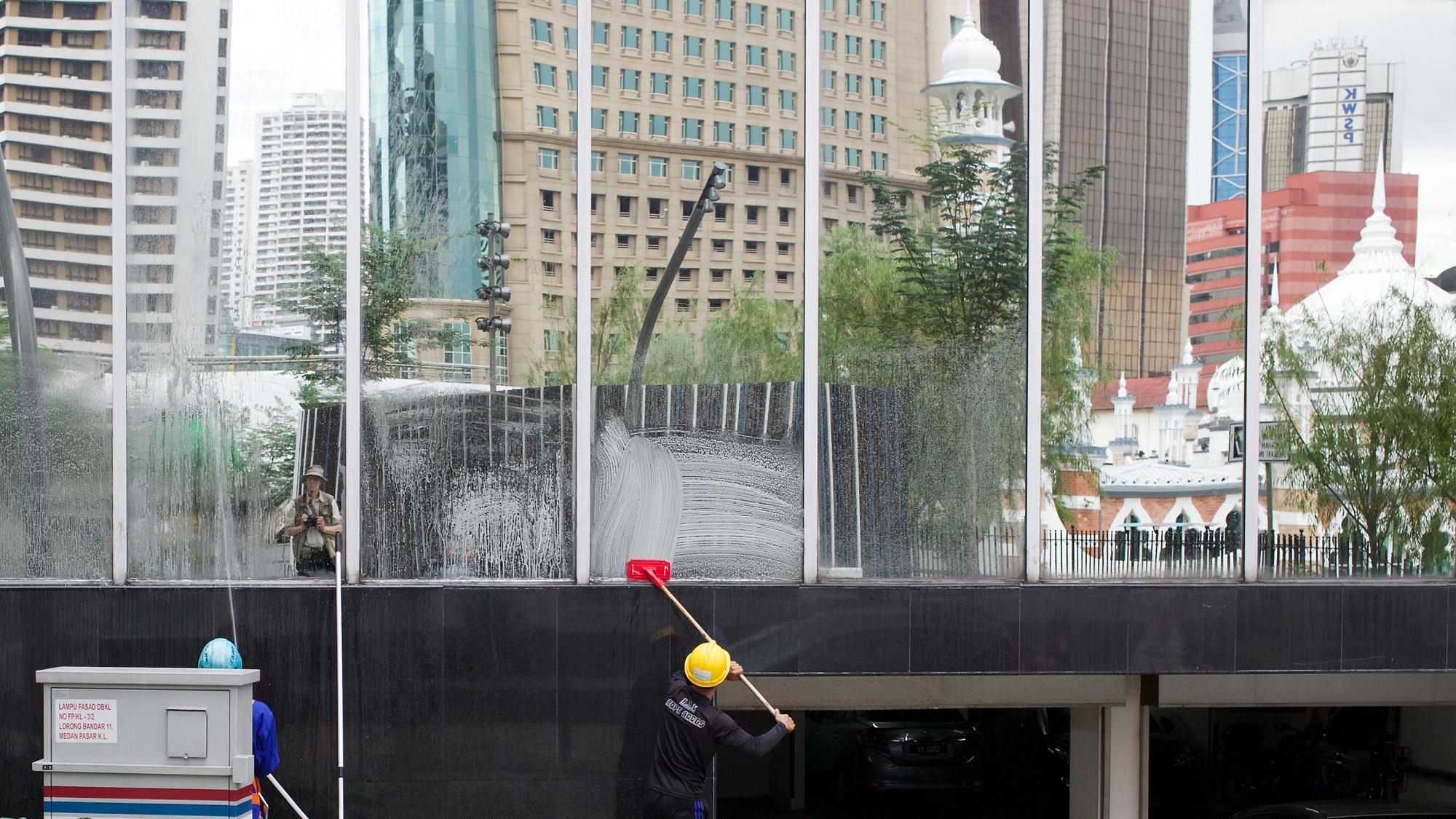 reflected scene in Kuala Lumpur